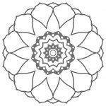 Mandala facil de flor