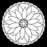 Mandala facil flor