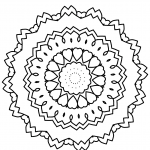 Mandala sencillo para niños