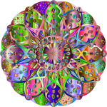 Mandalas coloreados fantasia
