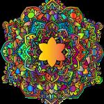 Mandalas coloreados originales