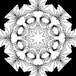 Mandala de flores con formas